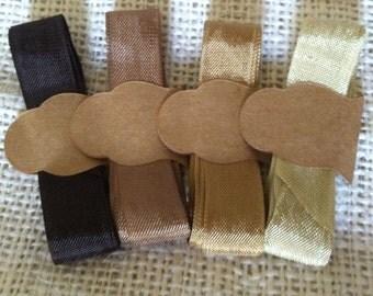 Seam Binding Ribbon Natural Browns Collection