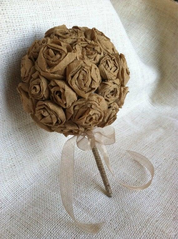 Wedding Kraft Flower Ball Pomander