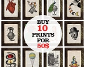 Book prints SPECIAL SALE select any 10 book prints for ONLY fifty dollars  Book  Prints on Vintage Encyclopedic Dictionary Book  SPR01