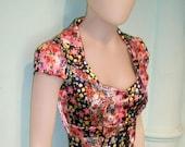 PINUP dress, SALE, floral dress,spring dress,faux pencil dress,sweetheart dress,swing dress,pink and black dress,50s dress,bridesmaid dress,