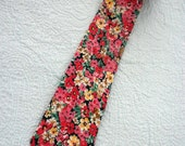 80s Liberty of London Necktie / 3 1/2 inch / Mini Floral Cotton /
