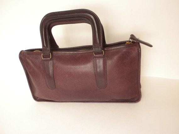 FLASH SALE Coach Bag / Medium Size Coach Handbag / Mahogany Brown Coach Purse / Bonnie Cashin Handbag