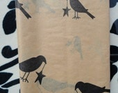 PRIMITIVE tissue with crows for supplies wrapping shipping