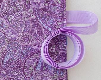 Crochet Hook Organizer Case Purple Paisley Fabric