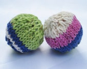 Knit Cotton Cat Toys - Multi colored