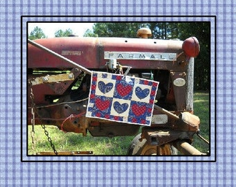 Americana Bandanna Quilted Trivet Pattern