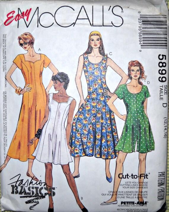 Easy McCall's 5899 Jumpsuit Pattern, Size D (12, 14, 16), Vintage 1992