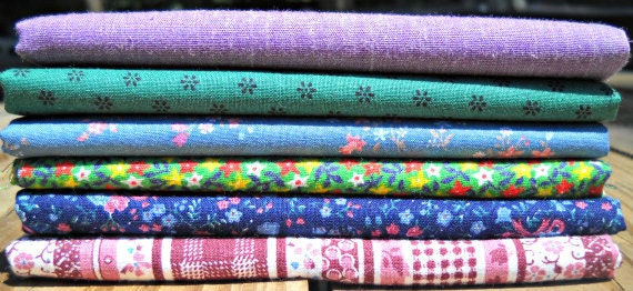 "Vintage Fabric Fat Quarter Sampler ""Ada"""