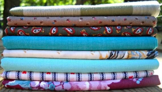 "Vintage Fabric Fat Quarter Sampler ""Adina"""