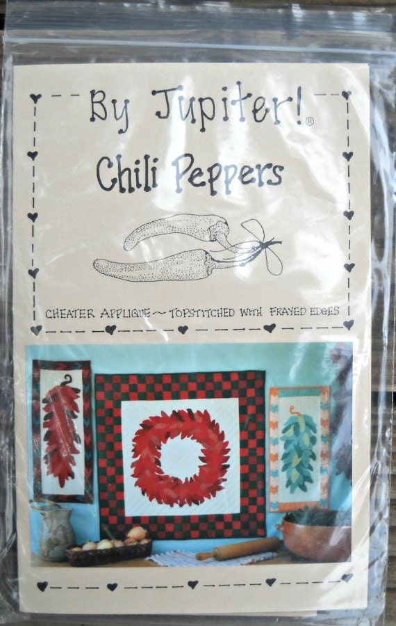 Chili Peppers Quilt Pattern by By Jupiter