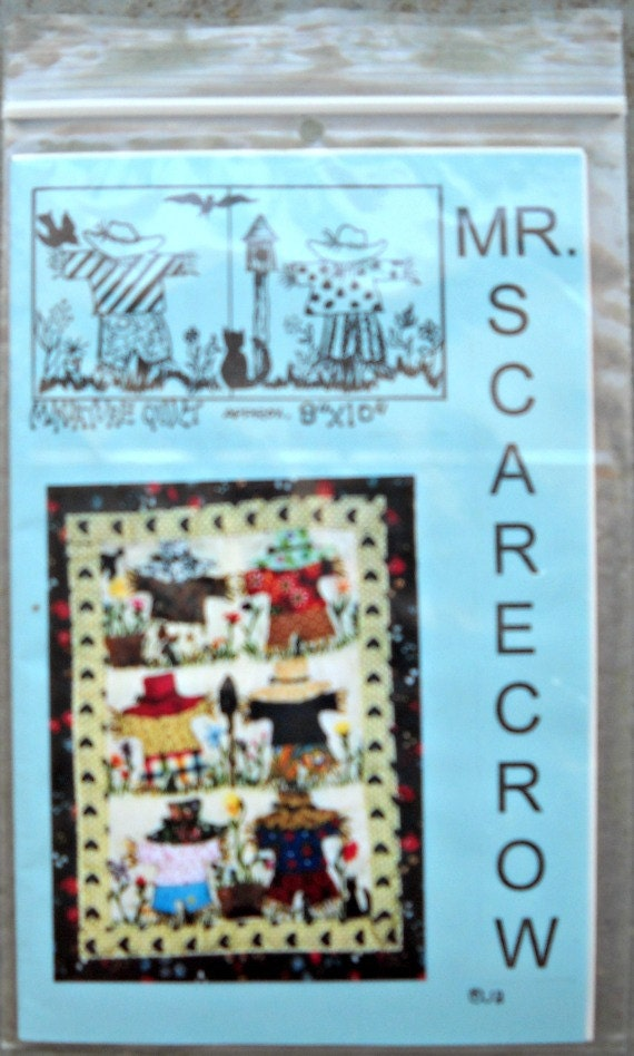 "Mr. Scarecrow Miniature Quilt Pattern, 8"" x 10"", by Jeans Impressions"
