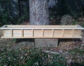 "48"" Window box Cypress wooden planter flower new wood"