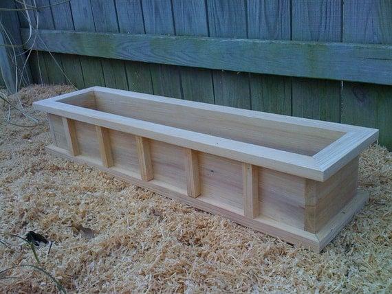 36 Window Box Cypress Wooden Planter Flower New Wood