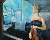 "Before the Concert 20""x20"" Giclee Print on Stretched Canvas from original painting"