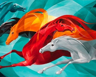 """GALLOP Giclee Stretched Canvas Print 30""""x12"""""""