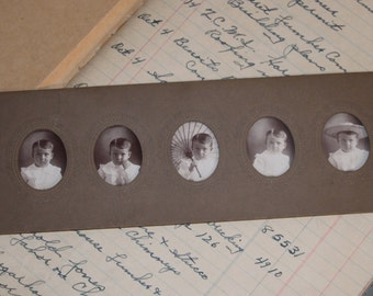 Antique Victorian 5 Poses Photograph of a Precious Little Boy