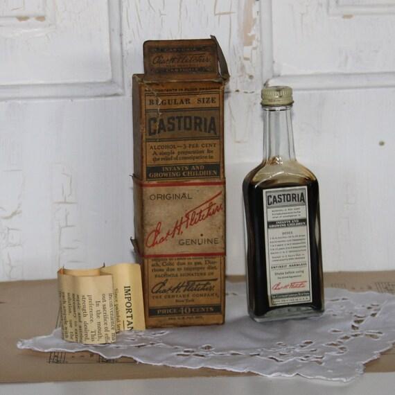 Fletcher S Castoria: Vintage Box And Bottle Of CASTORIA