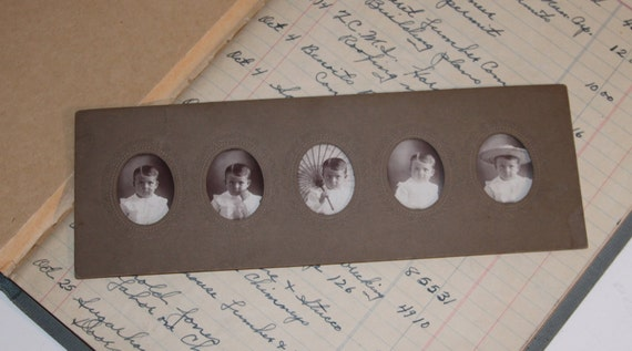 RARE FIND,  Antique Victorian 5 Poses Photograph of a Precious Little Boy