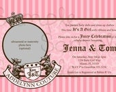 Juicy Couture Inspired Baby Shower Invitation Digital File YOU-PRINT