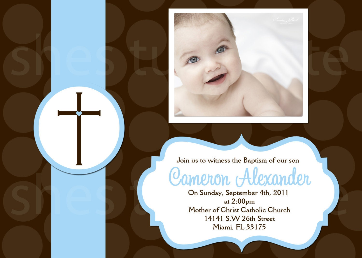 Baptism Invitations For Boy