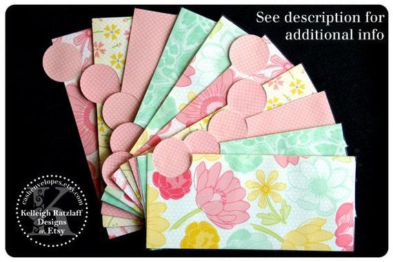 LAMINATED Cash Envelope System in Pink and Teal (10 envelopes)