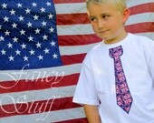 4th of July Tie Shirts. You select the tie print and we make the shirt for you.