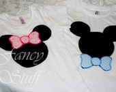 Mickey and Minnie Mouse shirts