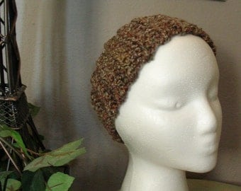 Brown Crochet Head Band - Ear Warmer - Hair Accessories - Winter Hat - Warm Headband - Bulky Crochet Ear Muff