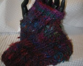 Ladies Upcycled Hand-knit Fingerless Gloves