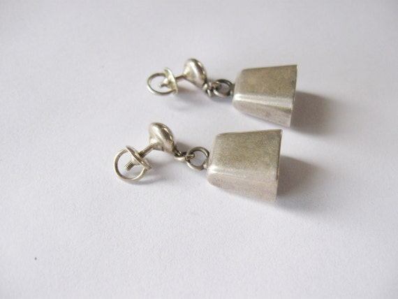 sterling bell earrings