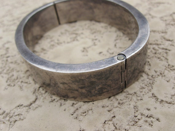 RESERVED for Elaine heavy taxco hinged cuff