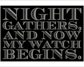 Night's Watch vow sign - smaller size