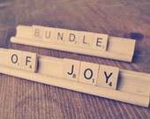 Bundle of Joy Sign | Baby Shower Decoration | Baby Scrabble Sign | Baby Photography Prop | Newborn Photo Prop