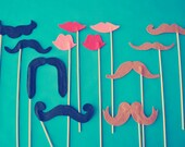 Set of 12 // Mustache and Lips // Photo Booth Variety Pack // Photo Props