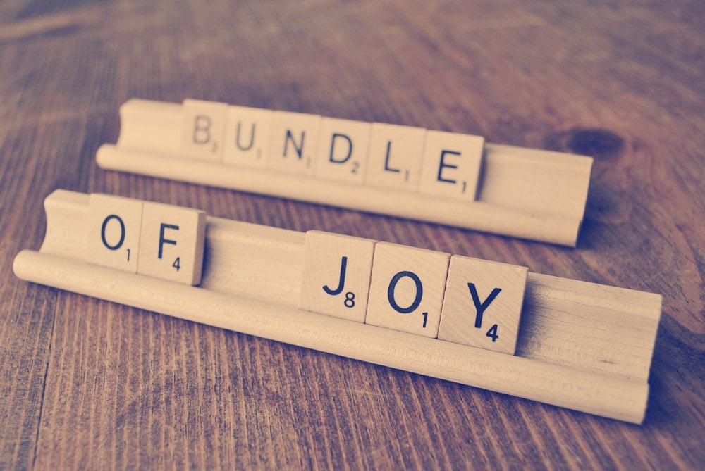 Bundle of Joy Sign Baby Shower Decoration Baby Scrabble – Scrabble Baby Announcement