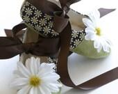 Daisy Baby Shoe, Toddler Ballet Flat, Baby Ballet Slipper, Spring Flower Girl Shoe, Girls Dance Shoe, Bootie Crib Shoe, Baby Souls Baby Shoe