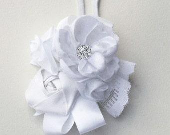 Flower Girl Headband, White, Black, Ivory Silk & Satin Headband, Baby Headband, Toddler White Silk Wedding Headband, Baby Souls