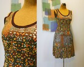 RESERVED vintage 1970s Arpeja tank dress S-M