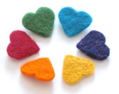 Rainbow hearts garland, Hanging decoration, Bowl filler, party favor, bright colors