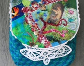 Mermaid Crazy Quilted OOAK purse