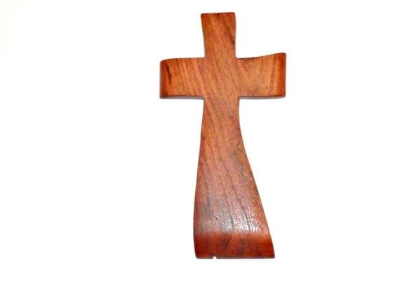 "An Original Crooked Cross made from Texas Mesquite 4""x9"" - Just a Pretty Little Cross"