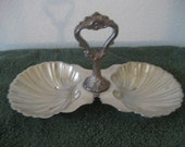 Vintage Clam Shell Relish Dish
