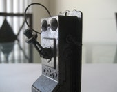 Vintage Die Cast Wall Phone Pencil Sharpener