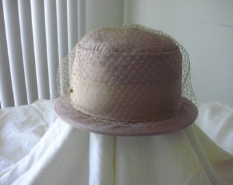 Vintage Peach Derby Hat Union Made