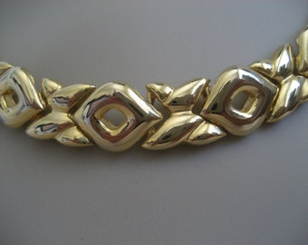 Vintage Love Xs and Os Goldtone Necklace