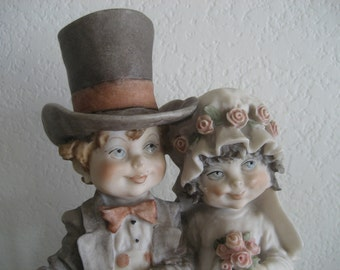 Vintage Giuseppe Armani Bride and Groom Capodimonte Figurine