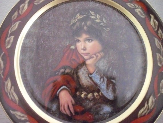 SALE Vintage Mark Antony Collectors Plate by Irene Spencer