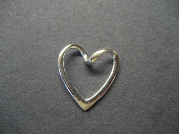 Vintage 925 Silver Heart Pendant