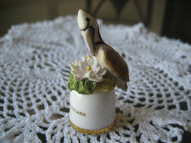Vintage Louisiana State Bird and Flower by GrandmasJunknStuff