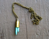 Turquoise Spikes Bullet Necklace